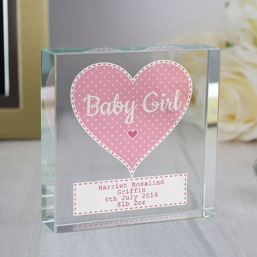 Personalised Stitch & Dot Girls Large Crystal Token
